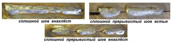 Фото: виды сварных швов